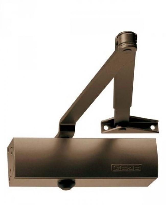 Geze Geze TS 1500 hnědý - zavírač dveří s ramenem Hnědá SET A -