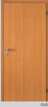 Protipožární dveře - plné - CPL dub Pravé 60 cm PZ zámek (cylind