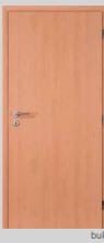 Protipožární dveře - plné - CPL buk Levé 70 cm PZ zámek (cylindr