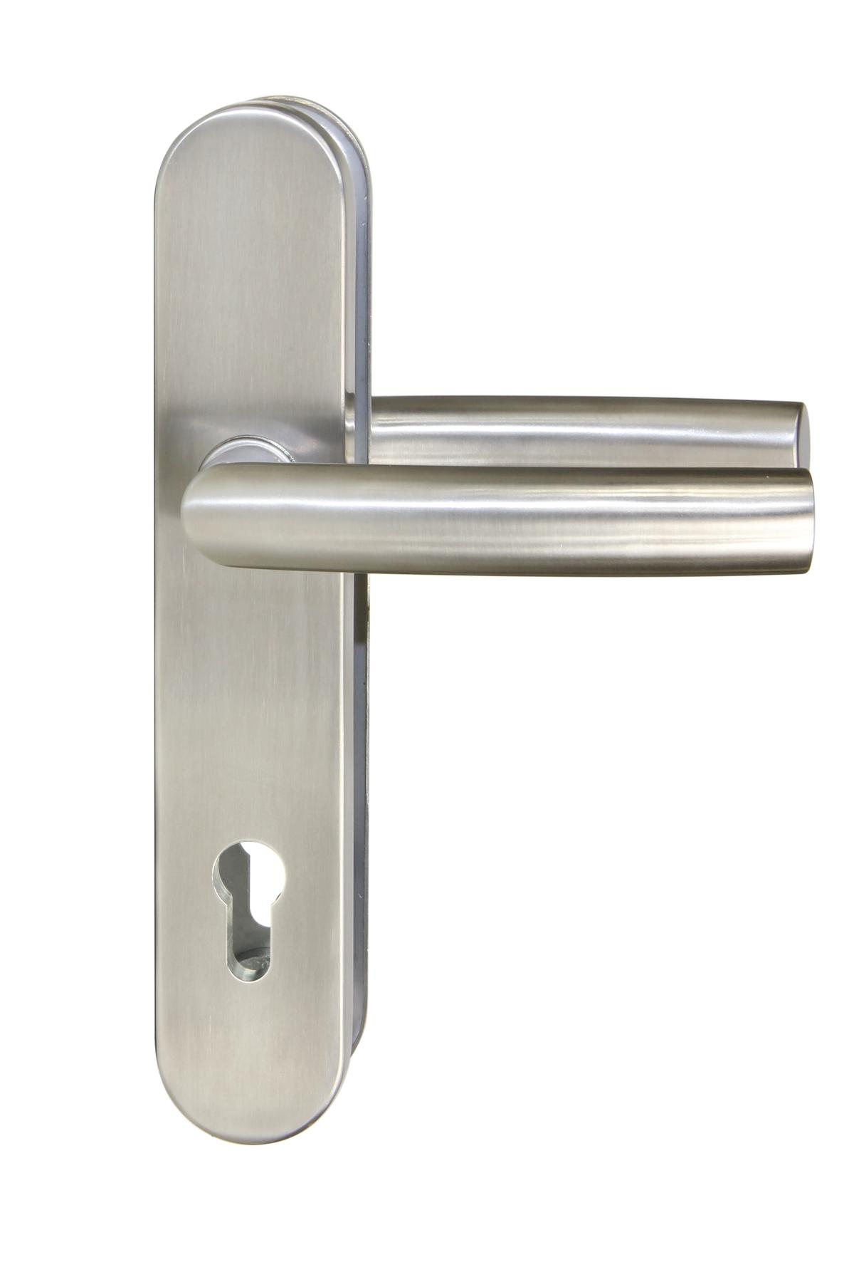 Bezpečnostní kování R.711.PZ bez překrytí nerez 72 mm - tl. dveř