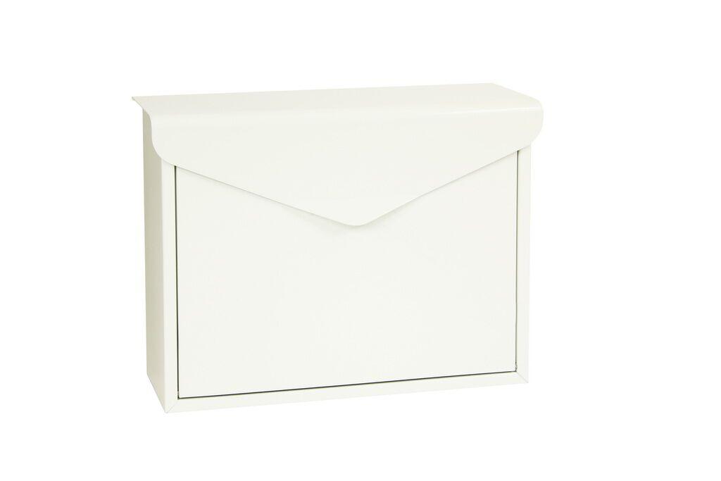 Poštovní schránka BK.57 - bílá Ocel hnědá