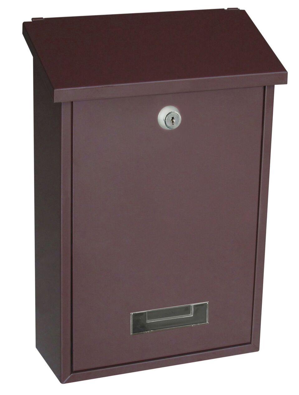 Poštovní schránka BK.70 - hnědá Ocel bílá