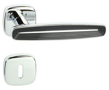 Etar QR luxusní rozetové kování chrom lakovaný/ černá