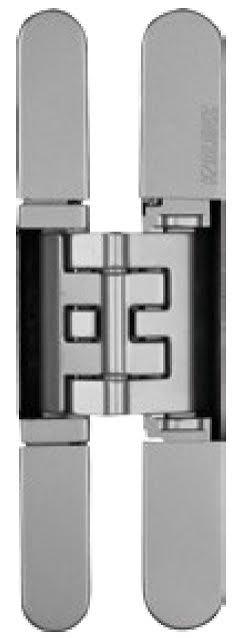 Skrytý dveřní pant KUBICA K2400 satina/ chrom
