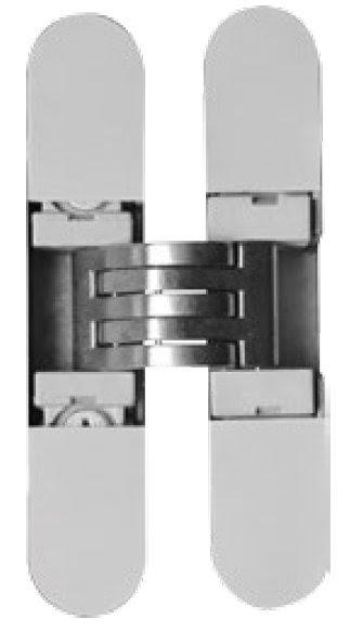 Skrytý dveřní pant KUBICA K6100 - lehké,skříňové dveře satina/ c