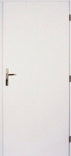 Interiérové dveře - plné, bílé Javor 80 cm Levé PZ zámek (cylind