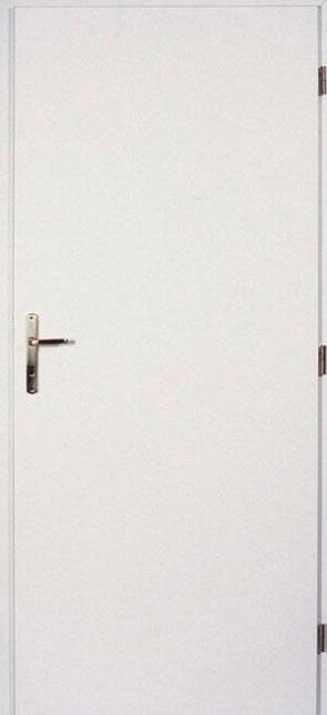 Interiérové dveře - plné, bílé Olše 70 cm Levé WC zámek