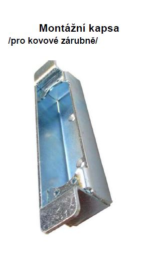 Montážní kapsa pro kovové zárubně