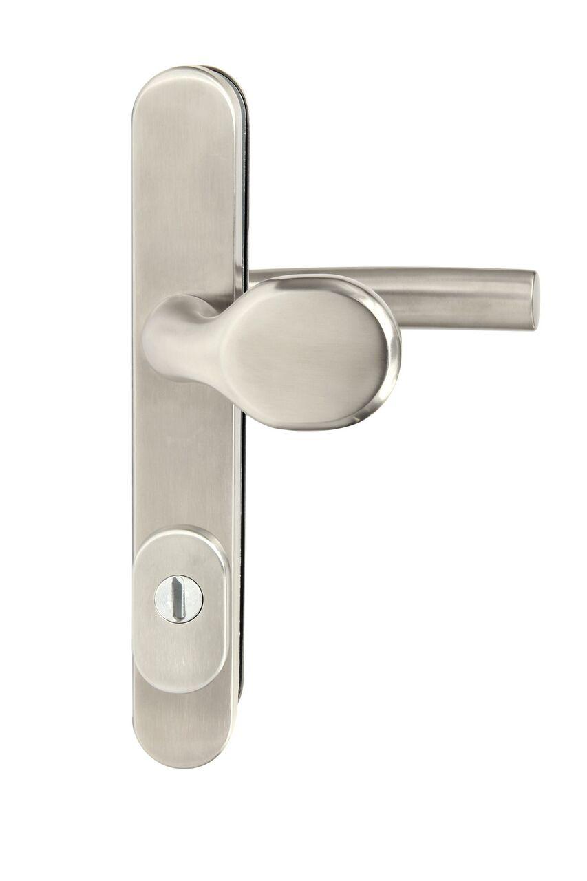 Bezpečnostní kování R.801 s překrytím nerez 92 mm - tl. dveří 67
