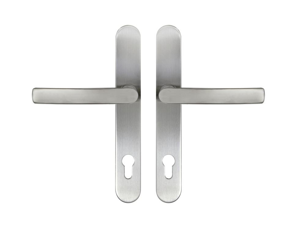 Kování RHD.0041 pro plastové dveře - klika/klika nerez 92 mm PZ