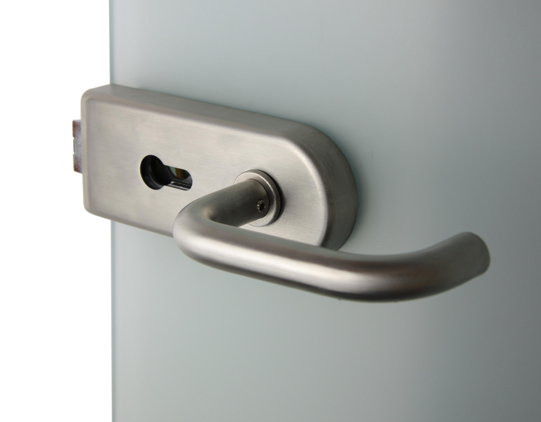 V 6000 - zámek do skleněných dveří INX - Nerez ocel Zámek WC + k