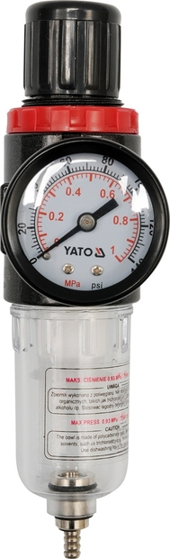 "Regulátor tlaku vzduchu 1/4"", max. 0,93MPa, s filtrem (15ccm)"