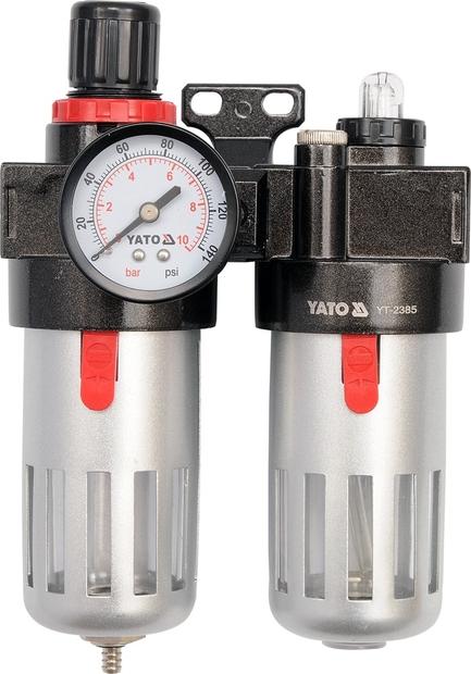"""Regulátor tlaku vzduchu 1/4"""", max. 0,93MPa, s filtrem (90ccm) a"""