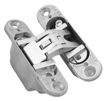 Skrytý dveřní pant KUBICA K6200 satina chrom 6200 ( 95/23,3mm)